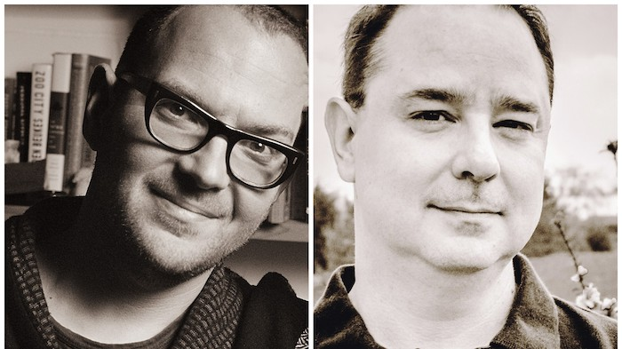 Science Fiction Writers Cory Doctorow, John Scalzi