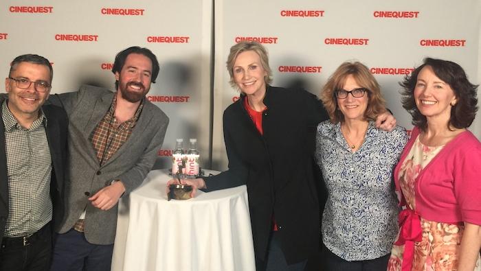 'Writer's Block' Filmed Interview: Jane Lynch, Carol Leifer, James Costa and Ben Foster, Cinequest 2017